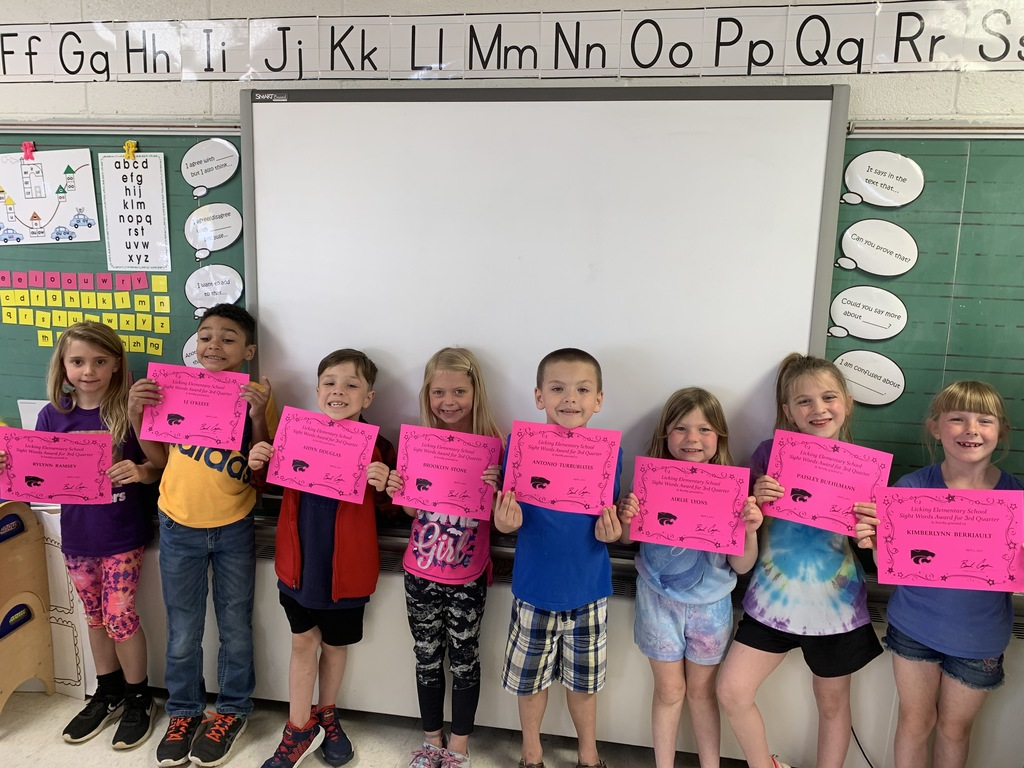 Haneline's 3rd Quarter Sight Words Awards